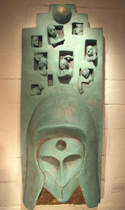 Aldo Nonis. Masque en résine L'entrepreneur. Adsubian Gallery