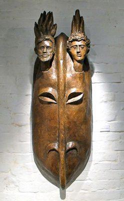 Aldo Nonis. Masque en résine Les deux frères. Adsubian Gallery