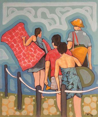 Iain Longstaff - On the beach - Adsubian Gallery