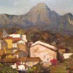 Village sous la montagne
