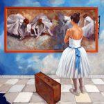 Bailarina en suenos con Degas